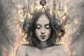 Картинка девушка, лицо, волосы, кулон