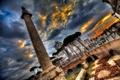 Картинка колонна, Витториано, площадь Венеции, Рим, Италия, небо, тучи