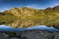 Картинка лес, природа, озеро, гора, панорамма, Aquitaine, Gabes