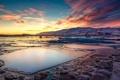 Картинка зима, снег, природа, рассвет, Iceland, Jokulsarlon