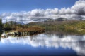 Картинка облака, Tuddal, лес, озеро, деревья, Норвегия, горы