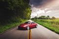 Картинка дорога, красный, red, Nissan, ниссан, 350Z, stance