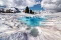 Картинка река, Канада, зима, лед, снег, хмурое небо, фотограф Иван Андреевич