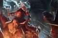 Картинка оружие, магия, молния, молот, войны, битва, dota 2