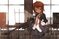 Картинка девушка, оружие, юбка, арт, галстук, форма, винтовка