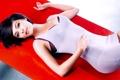 Картинка взгляд, девушка, брюнетка, models, Kristin Kreuk