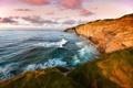 Картинка море, небо, трава, вода, горы, фото, океан