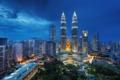 Картинка night, Малайзия, Kuala Lumpur, Blue Hour, Malaysia, Куала-Лумпур