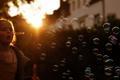Картинка свет, пузыри, девочка