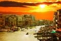 Картинка город, Италия, Венеция, канал, Italy, гондолы, Venice