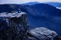Картинка горы, скалы, игрушка, мишка, панорама