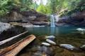 Картинка лес, природа, озеро, река, камни, водопад, USA