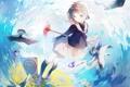 Картинка девушка, чайки, аниме, арт, форма, kinomoto sakura, card captor sakura