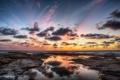 Картинка закат, пейзаж, небо, облака, природа, море
