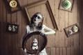 Картинка фантазия, ужас, кукла, Doll House, сюрреализм