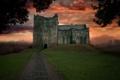 Картинка ночь, природа, замок