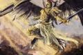Картинка арт, крылья, рыцарь, доспехи, ангел