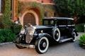Картинка авто, ретро, обои, wallpaper, особняк, лимузин, cadillac