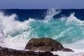 Картинка море, волны, небо, камень