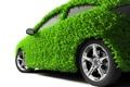 Картинка зелень, машина, трава, колеса, экология, автомобиль