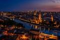 Картинка ночь, город, Verona
