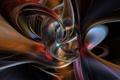 Картинка цвета, линии, синий, красный, абстракт, огненный