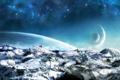 Картинка космос, фэнтази, землья