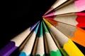 Картинка wood, black, pencils of colors