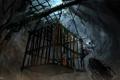 Картинка эцио, клетка, склеп, тюрьма Влада, assassins creed, revelations, vampire