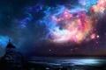 Картинка цвета, космос, пространство, человек, яркость, явление