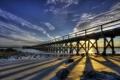 Картинка закат, United States, мост, Maine, Kittery Point