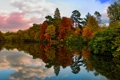 Картинка осень, природа, озеро, парк
