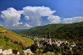 Картинка горы, город, река, фото, Германия, Эдигер-Эллер
