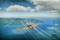 Картинка небо, облака, Япония, самолёт, перестрелка, MMO, War Thunder