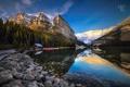 Картинка лес, горы, природа, озеро, отражение, Канада