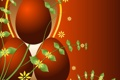 Картинка оранжевый, фон, яйца