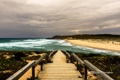 Картинка море, волны, пляж, тучи, спуск, лестница, Filipe Rodrigues