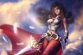 Картинка девушка, меч, перья, арт, повязка, ремень, Final Fantasy
