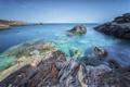 Картинка море, лето, камни, скалы