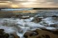 Картинка море, пейзаж, закат, природа, скалы