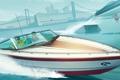 Картинка лодка, Grand Theft Auto V, GTA Online, Los Santos