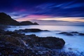 Картинка море, небо, облака, закат, берег, sky, landscape