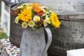 Картинка цветы, букет, кувшин, flowers, bouquet, pitcher