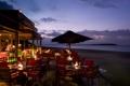 Картинка океан, вечер, ресторан, отель, курорт, терраса