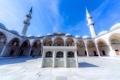 Картинка двор, восток, мечеть, архитектура, минарет