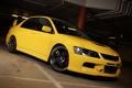 Картинка auto, жёлтого цвета, Mitsubishi lancer