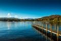 Картинка небо, природа, озеро, Англия, причал, пирс, Уиндермир