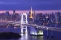 Картинка мост, Япония, Токио, панорама, залив, Tokyo, Japan
