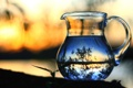 Картинка вода, макро, пейзаж, природа, отражение, фантазии, листва