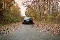 Картинка осень, листва, Subaru, black, субару, stance, Outback